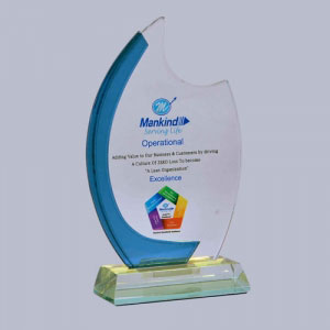 Glass Trophy Manufacturers in Bhopal